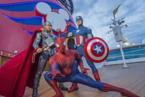 In fall 2017, Disney Cruise Line guests assemble on the Disney Magic to celebrate the epic adventures of the Marvel Universe's mightiest Super Heroes and Super Villains in a brand-new, day-long event during seven special sailings departing from New York City: Marvel Day at Sea. The celebration combines the thrills of renowned Marvel comics, films and animated series, with the excitement of Disney Cruise Line entertainment to summon everyone's inner Super Hero for the adventures that lie ahead during this unforgettable day at sea. (Chloe Rice, photographer)